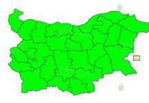 25 октября Желтый шторомовой Код в Болгарии