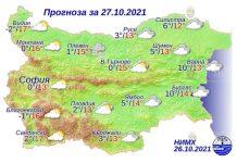 27 октября 2021 года погода в Болгарии
