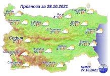 28 октября 2021 года погода в Болгарии