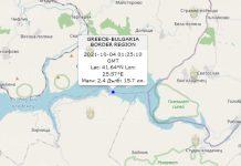 4 октября 2021 года землетрясение в Болгарии